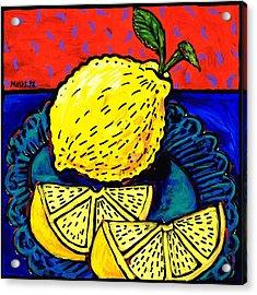 Lemon And Two Slices Acrylic Print