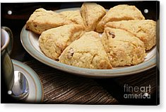 Lemon Apricot Scones For Tea Acrylic Print by Maria Janicki