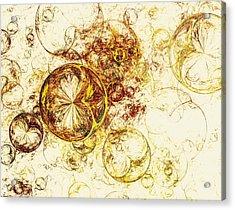 Lemon Bubbles Acrylic Print