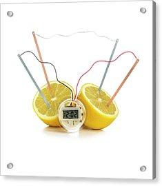 Lemon Clock Acrylic Print by Science Photo Library