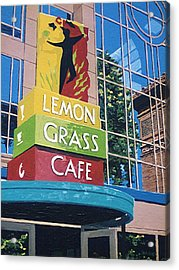 Lemon Grass Acrylic Print by Paul Guyer