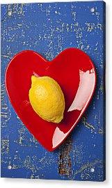 Lemon Heart Acrylic Print by Garry Gay