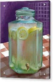 Lemon Limeade Acrylic Print by Ric Darrell