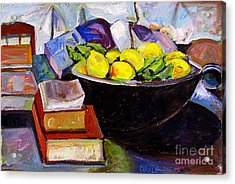 Lemon Meringue Acrylic Print by Charlie Spear