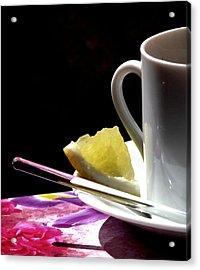 Lemon Please Acrylic Print by Angela Davies