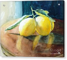 Lemon Reflections Acrylic Print
