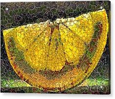Lemon Slice Acrylic Print by Dragica  Micki Fortuna