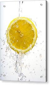 Lemon Splash Acrylic Print