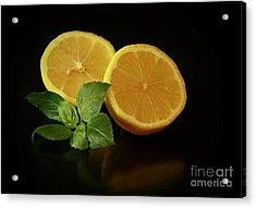Lemon Splendor Acrylic Print by Inspired Nature Photography Fine Art Photography
