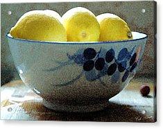 Lemon Still Life Acrylic Print by Cole Black
