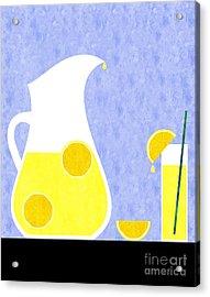Lemonade And Glass Blue Acrylic Print