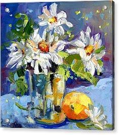 Lemonade Daisies Acrylic Print by Sharon Furner