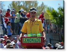 Lemonade Vendor Acrylic Print by Steven Blivess