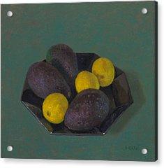 Lemons And Avocados Acrylic Print by Ben Rikken