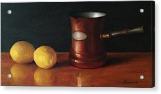 Lemons And Copper Acrylic Print