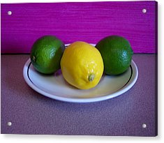Lemons And Limes Acrylic Print by Melvin Turner