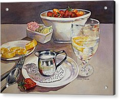 Acrylic Print featuring the painting Lemons And Things by Roxanne Tobaison