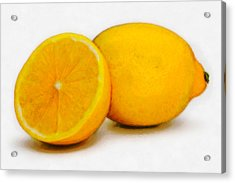 Lemons Acrylic Print by David Blank