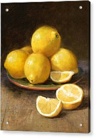 Lemons Acrylic Print by Robert Papp