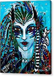 Lemuria Acrylic Print by Kath MoonArts