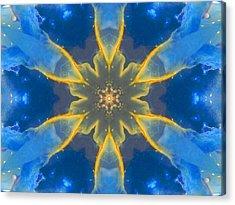 Lemurian Aquatine Calcite Mandala Acrylic Print