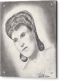 Lena Horne Acrylic Print by David Jackson