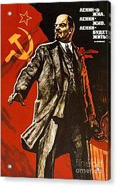 Lenin Lived Lenin Lives Long Live Lenin Acrylic Print by Viktor Semenovich Ivanov