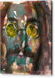 Acrylic Print featuring the painting Lennon 2 by Laur Iduc