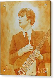 Lennon Gold Acrylic Print by Robert Hooper