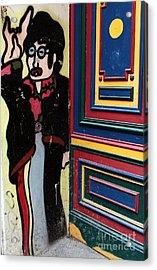 Lennon In Berlin Acrylic Print by John Rizzuto