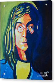 Acrylic Print featuring the painting Lennon by Justin Lee Williams
