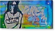 Lennon The Dreamer Acrylic Print by Tony B Conscious