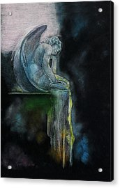Acrylic Print featuring the drawing L'ennui Au Paradis by Penny Collins