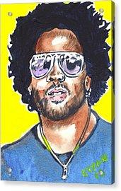 Lenny Kravitz Acrylic Print by Bryan Bustard
