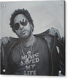 Lenny Kravitz Acrylic Print