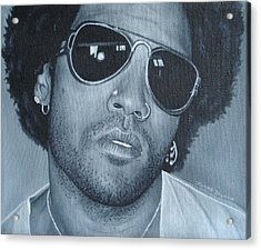Acrylic Print featuring the painting Lenny Kravitz II by David Dunne