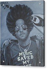 Lenny Kravitz 'mr Cool' Acrylic Print