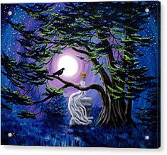Lenore By A Cypress Tree Acrylic Print