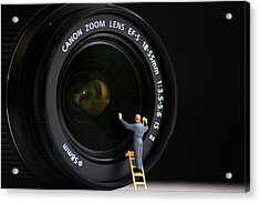 Lens Cleaner Acrylic Print by Martin Newman