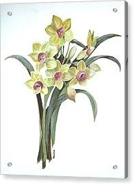 Lent Lily Acrylic Print by Tracey Harrington-Simpson
