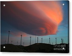 Lenticular Cloud At Sunset Acrylic Print