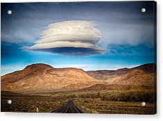 Lenticular Cloud Ft. Churchill State Park Nevada Acrylic Print