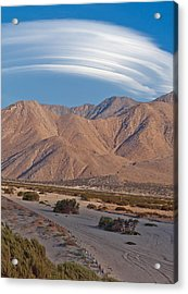 Lenticular Cloud Over Palm Springs Acrylic Print
