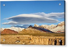 Lenticular Cloud Red Rock Canyon Acrylic Print