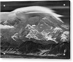 101366-lenticular Cloudcap Over Mt. Mckinley Acrylic Print