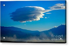 Lenticular Dust Storm Acrylic Print by Angela J Wright