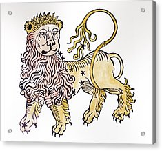 Leo An Illustration From The Poeticon Acrylic Print by Italian School