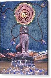 Leo Acrylic Print by Maria Jesus Hernandez