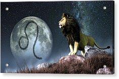 Leo Zodiac Symbol Acrylic Print by Daniel Eskridge