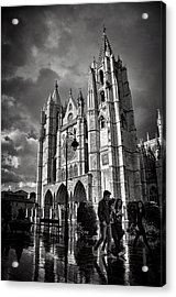 Leon Cathedral Acrylic Print by Tom Bell